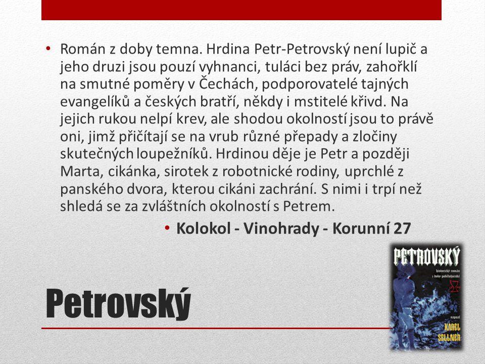 Petrovský • Román z doby temna.