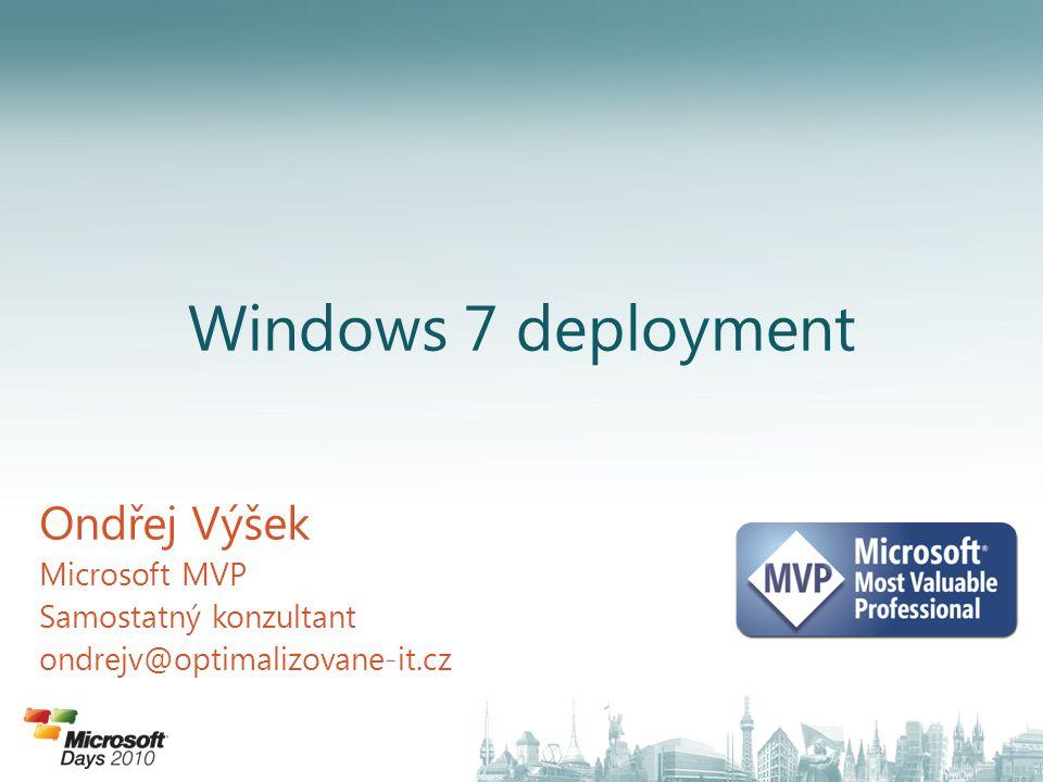 """Řízení životního cyklu instalace Instalace je """"živá po celou dobu podpory OS systému v organizaci MDT úvodní nastavení Vytvoření nového Deployment Share Přidání balíčků (aktualizace, jazyk) Přidání aplikací Přidání operačního systému Vytvoření a naplnění Deployment Share Přidání sekvence úkolů Konfigurace možností instalace Sekvence úkolů Vytvoření a sejmutí vlastního Image Přidání ovladačů Nasazení vlastního Image Vytvoření a sejmutí vlastního image Referenční instalace OS Instalace vlastního OS"""