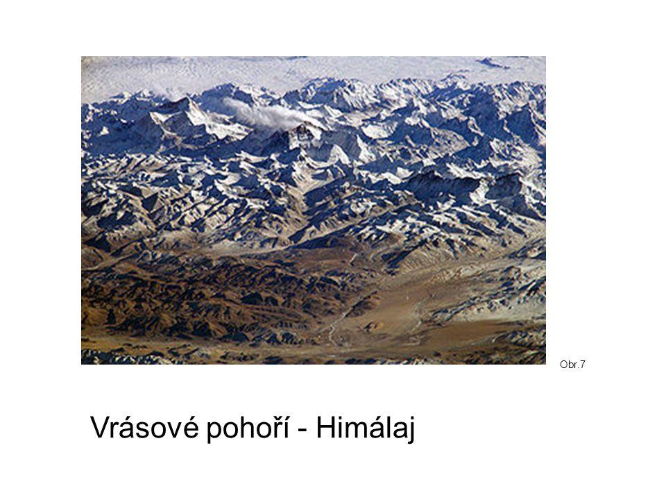 Vrásové pohoří - Himálaj Obr.7