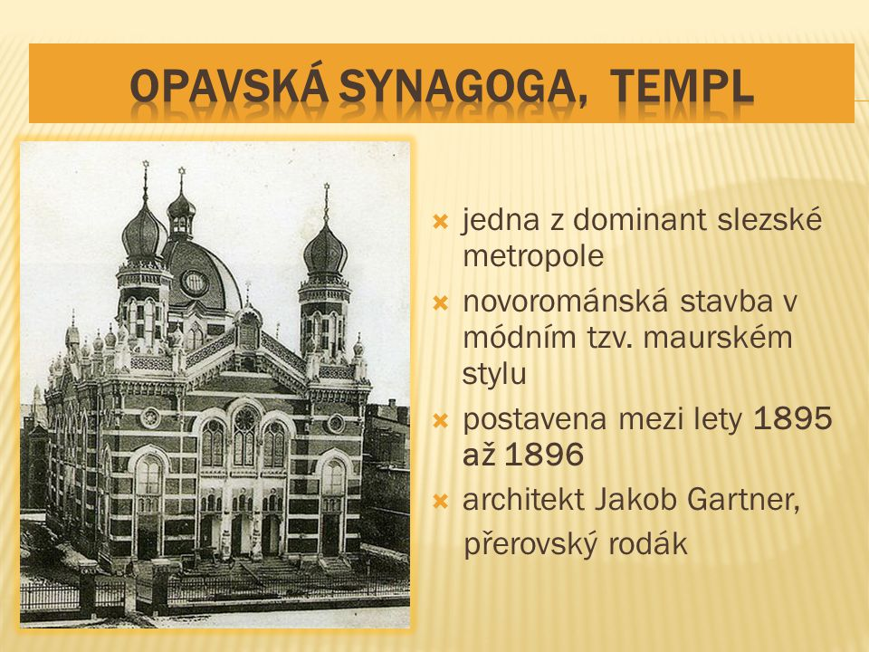  jedna z dominant slezské metropole  novorománská stavba v módním tzv.