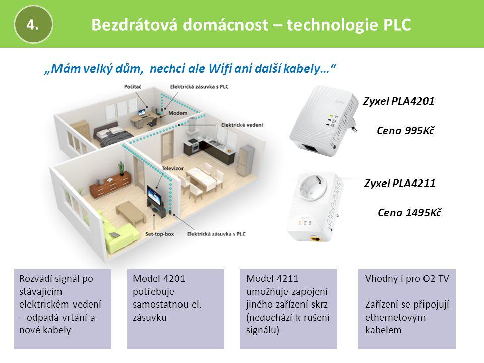 """Bezdrátová domácnost – technologie PLC 4. """"Mám velký dům, nechci ale Wifi ani další kabely…"""" Zyxel PLA4201 Cena 995Kč Rozvádí signál po stávajícím ele"""
