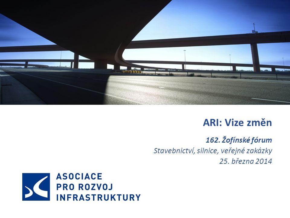 ARI: Vize změn 162. Žofínské fórum Stavebnictví, silnice, veřejné zakázky 25. března 2014