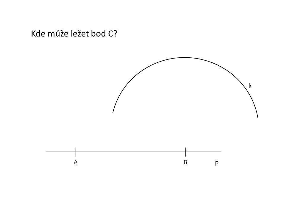ABp Co ještě víme o bodu C? Bod C leží ve vzdálenosti 7 cm od bodu A. C1C1 C2C2 C3C3 C4C4