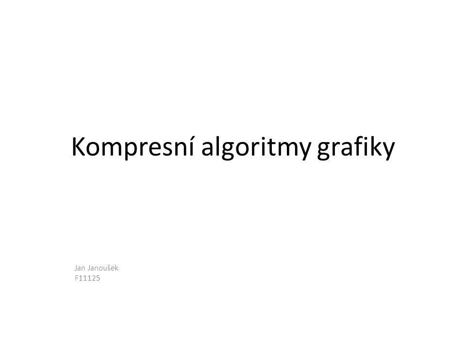 Slovníkové metody komprese – LZW84 • Použití: – Gif, tiff, zip • Na 20 let byl chráněn patentem Zdroj: Foltýnek, Tomáš a Přichystal, Jan.