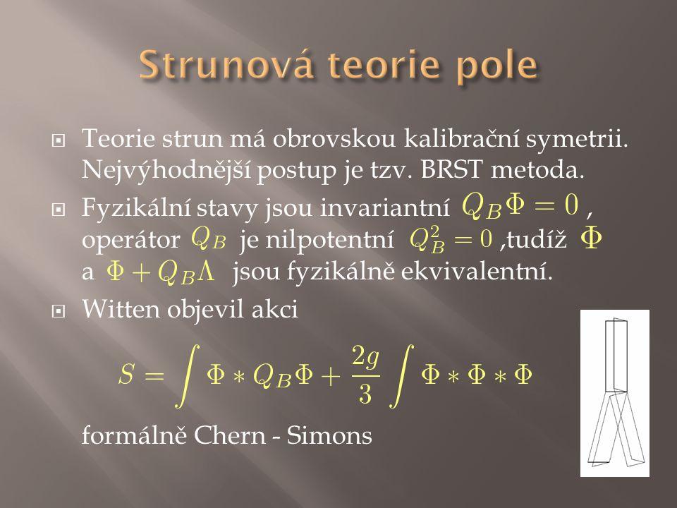 Teorie strun má obrovskou kalibrační symetrii.Nejvýhodnější postup je tzv.
