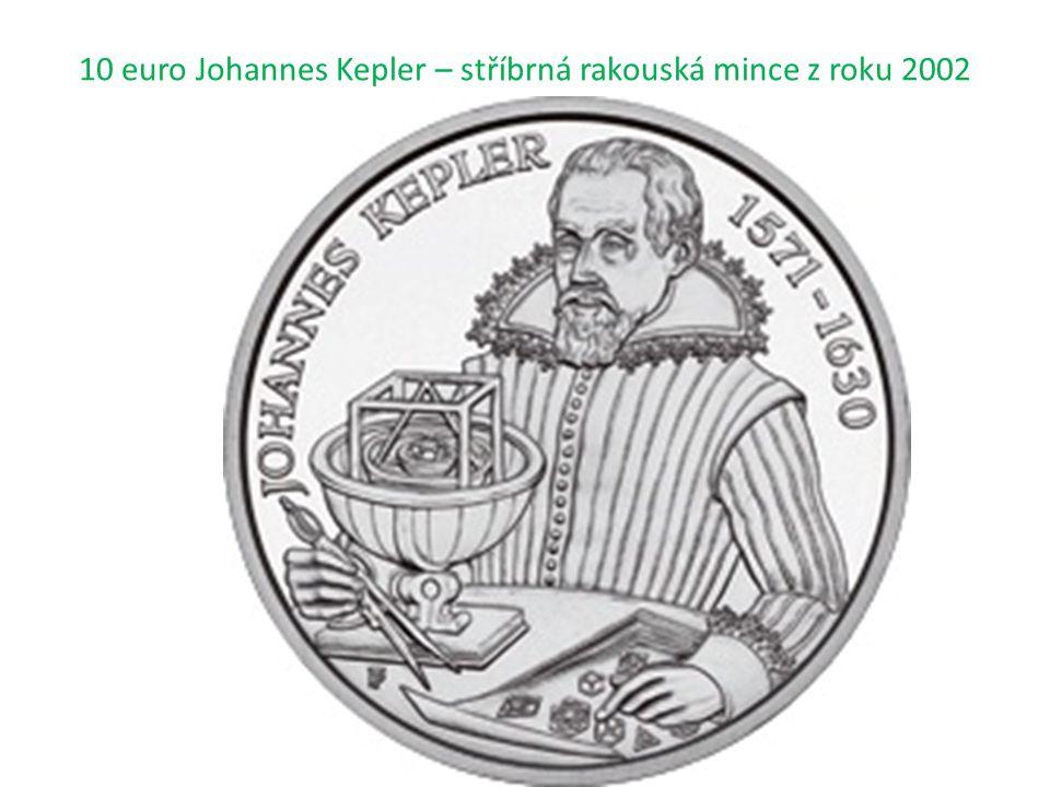 10 euro Johannes Kepler – stříbrná rakouská mince z roku 2002