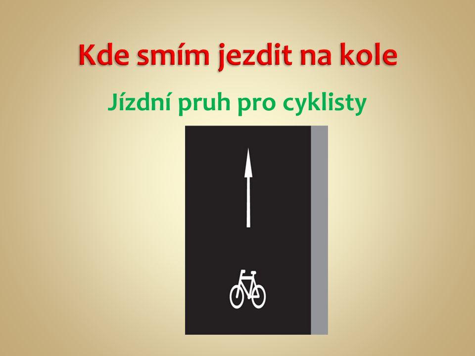 Pracovní list – Já, cyklista.