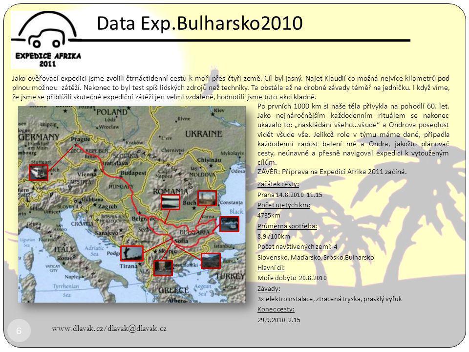 www.dlavak.cz/dlavak@dlavak.cz 16  DĚKUJEME ZA PODPORU EXP.BULHARSKO 2010 Dunaj Bulharsko
