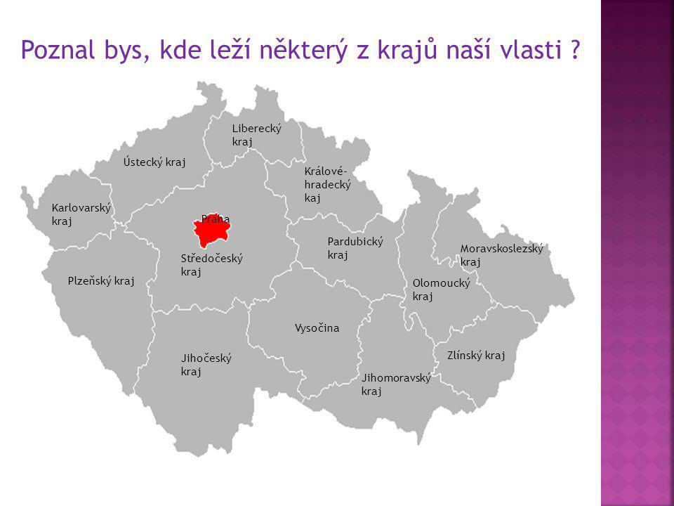 Každý kraj má své krajské město, kde sídlí krajské úřady.