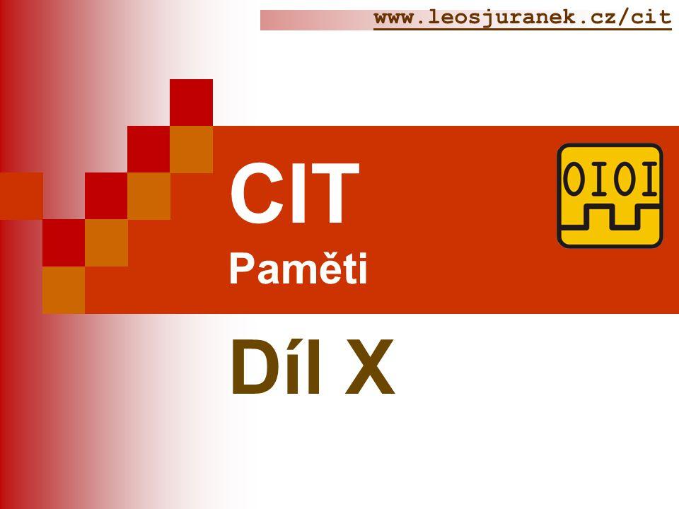 Čítače  Téma: Čítače CIT  Předmět : CIT 2  Ročník: 2 Juránek Leoš Ing.