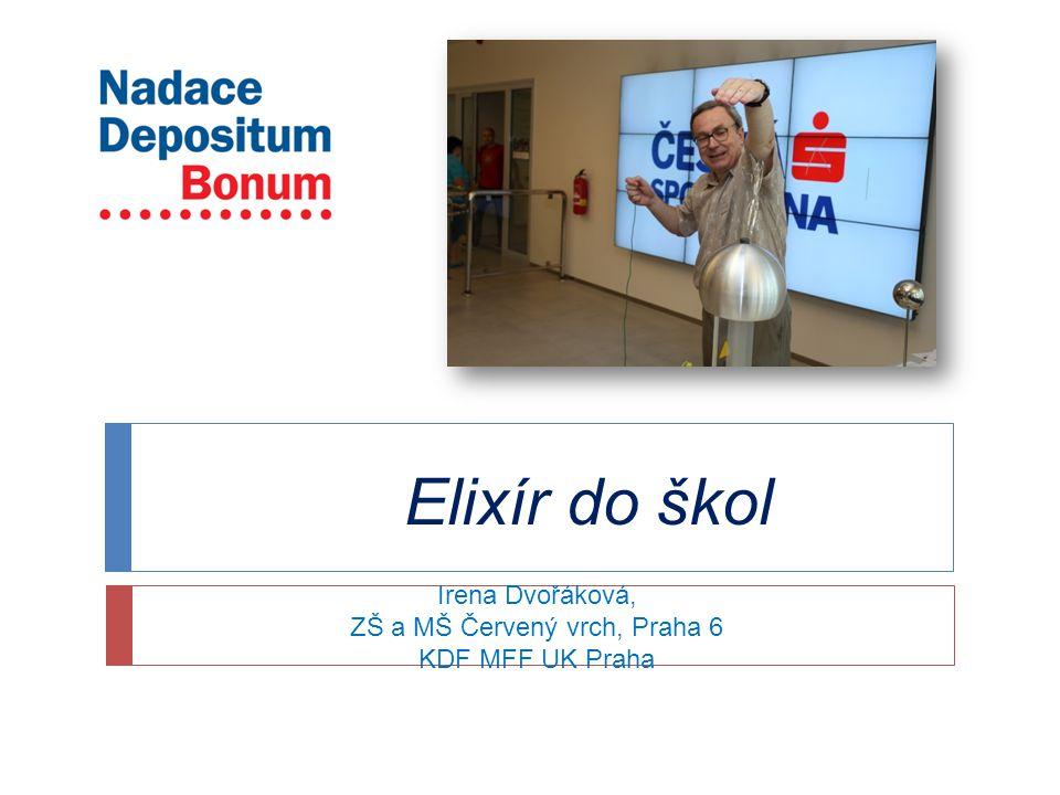 Irena Dvořáková, ZŠ a MŠ Červený vrch, Praha 6 KDF MFF UK Praha Elixír do škol