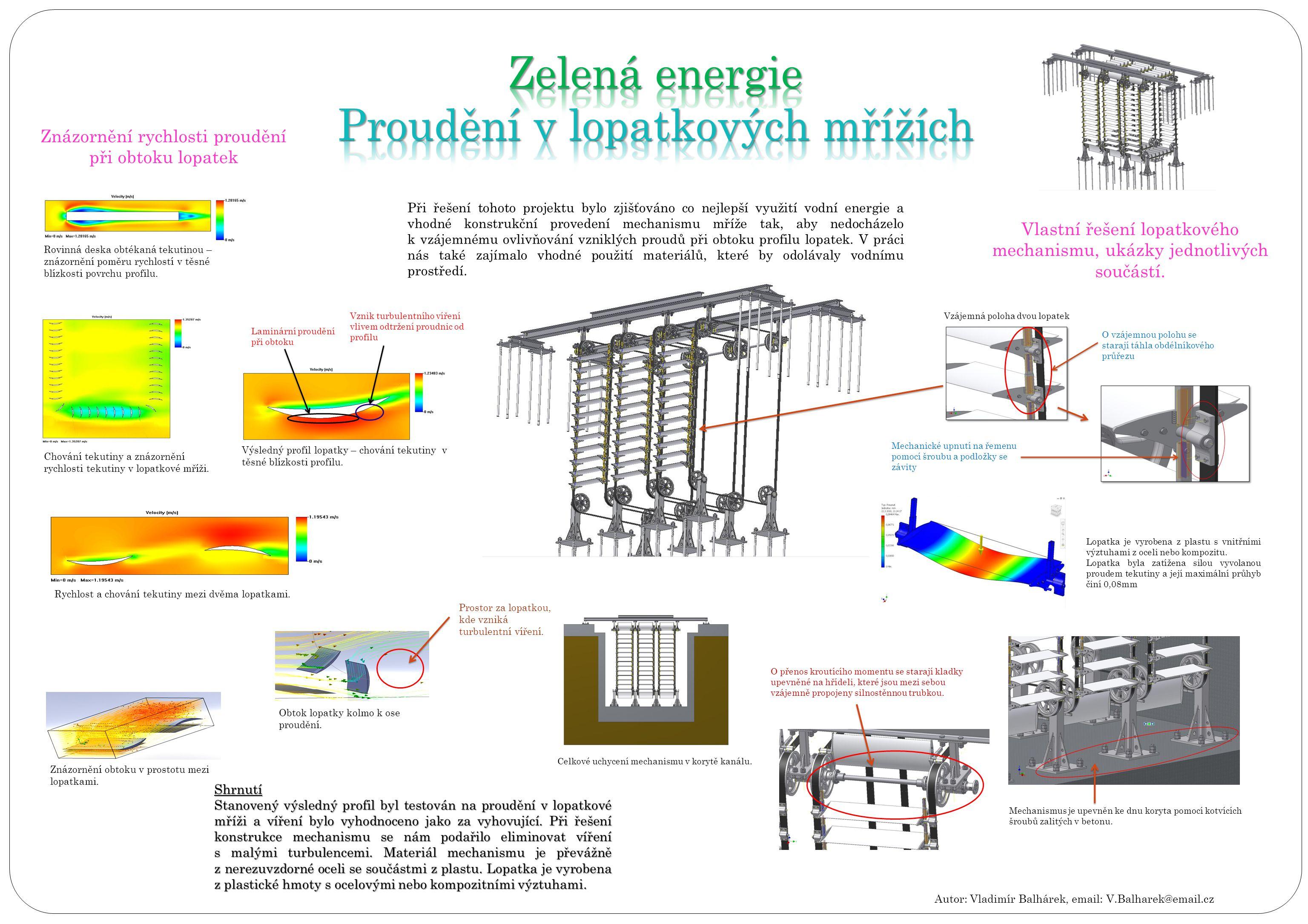 Ukázky z výsledného DVD Ukázky z prvního videa znázorňující, jak vypadá motor z vnějšího pohledu Rychlost a chování tekutiny mezi dvěma lopatkami.