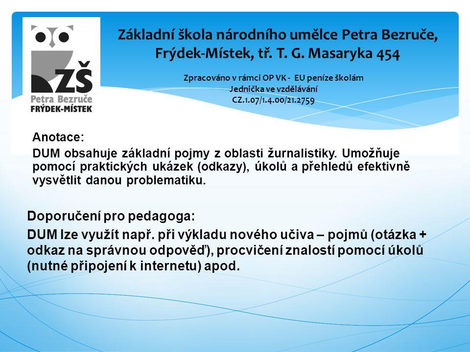 Publicistické žánry - reportáž  Reportáž (z franc.
