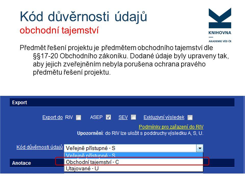 WARN.: Projekt FSIJ- 13-2046 nemá řešitele z AV Hledání projektu – CEP, Google