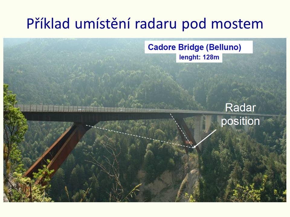 Příklad umístění radaru pod mostem