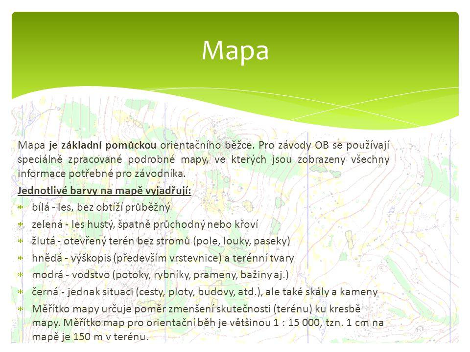 Mapa je základní pomůckou orientačního běžce. Pro závody OB se používají speciálně zpracované podrobné mapy, ve kterých jsou zobrazeny všechny informa