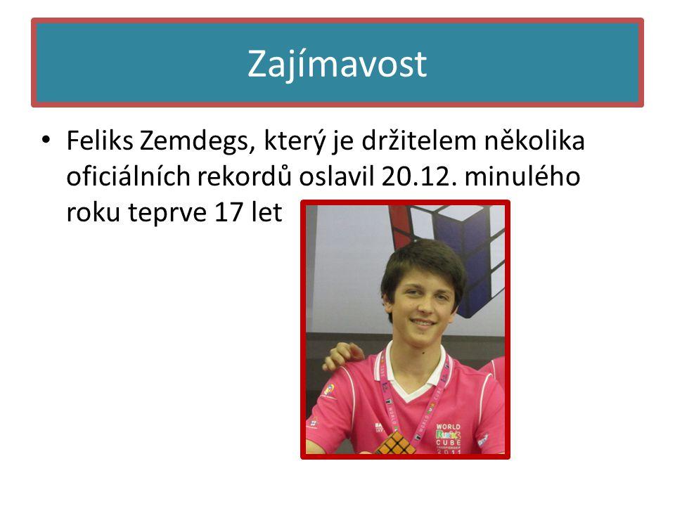 Zajímavost • Feliks Zemdegs, který je držitelem několika oficiálních rekordů oslavil 20.12.