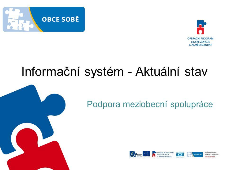 Informační systém - Aktuální stav Podpora meziobecní spolupráce