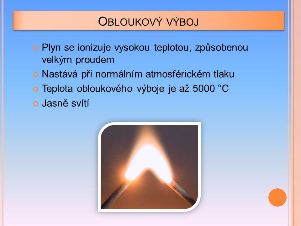 V YUŽITÍ OBLOUKOVÉHO VÝBOJE Oblouková lampa Františka Křižíka Oblouková pec Sváření elektrickým obloukem Video
