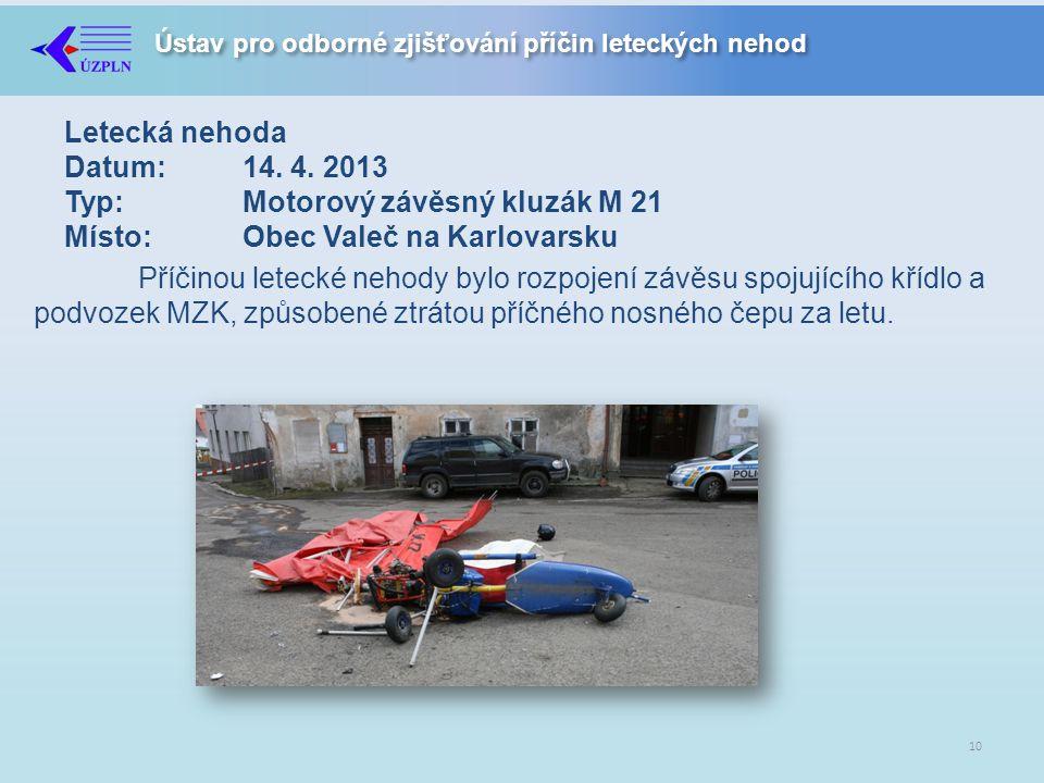 Ústav pro odborné zjišťování příčin leteckých nehod Letecká nehoda Datum:14.