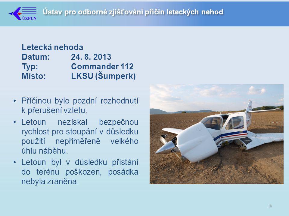 Ústav pro odborné zjišťování příčin leteckých nehod Letecká nehoda Datum:24.