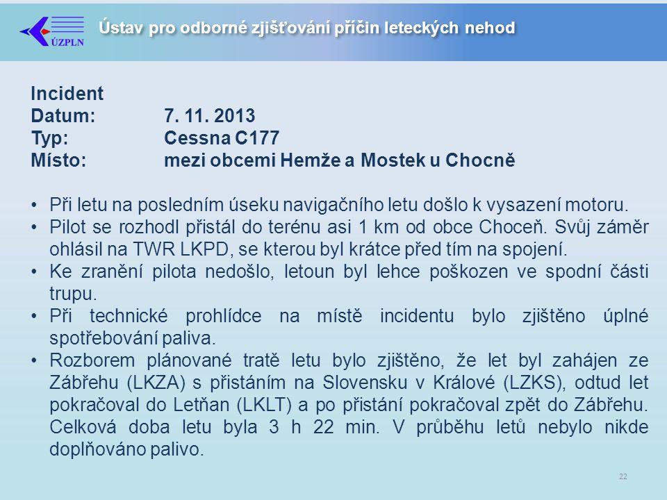 Ústav pro odborné zjišťování příčin leteckých nehod Incident Datum:7.