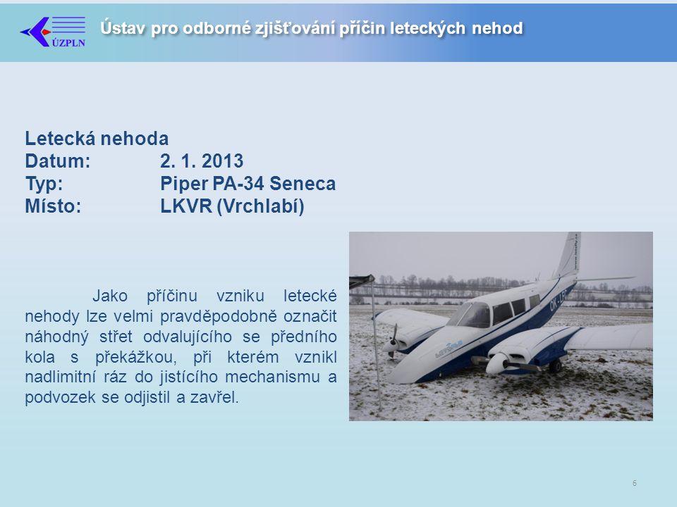 Ústav pro odborné zjišťování příčin leteckých nehod Letecká nehoda Datum:2.