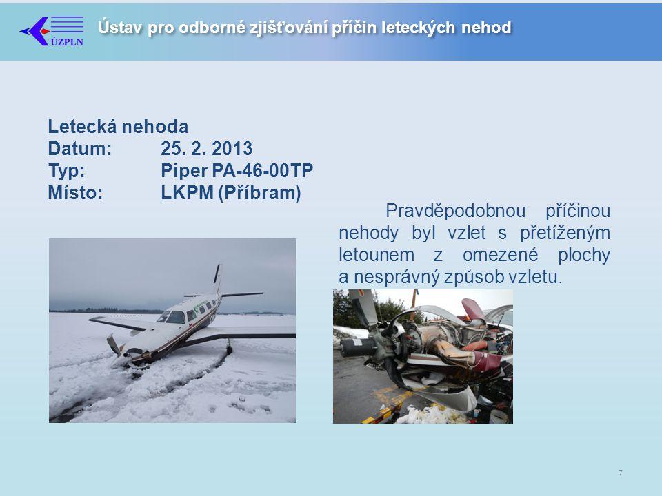 Ústav pro odborné zjišťování příčin leteckých nehod Letecká nehoda Datum:25.