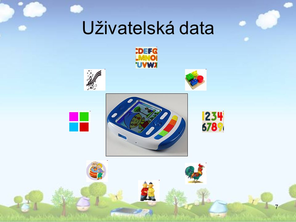 7 Uživatelská data