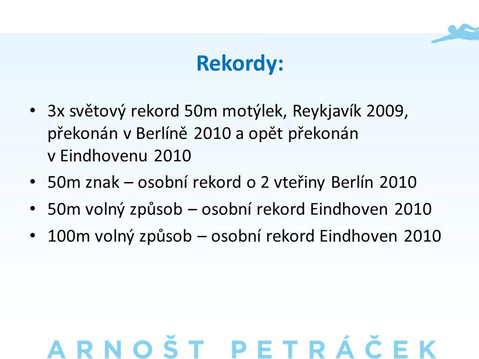 Rekordy: • 3x světový rekord 50m motýlek, Reykjavík 2009, překonán v Berlíně 2010 a opět překonán v Eindhovenu 2010 • 50m znak – osobní rekord o 2 vteřiny Berlín 2010 • 50m volný způsob – osobní rekord Eindhoven 2010 • 100m volný způsob – osobní rekord Eindhoven 2010