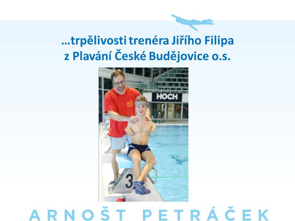 …trpělivosti trenéra Jiřího Filipa z Plavání České Budějovice o.s.