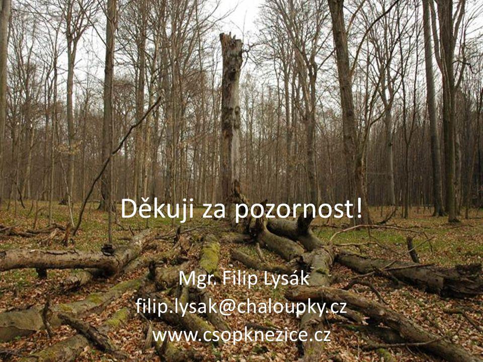 Děkuji za pozornost! Mgr. Filip Lysák filip.lysak@chaloupky.cz www.csopknezice.cz