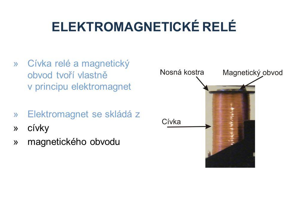 ELEKTROMAGNETICKÉ RELÉ »Cívka relé a magnetický obvod tvoří vlastně v principu elektromagnet »Elektromagnet se skládá z »cívky »magnetického obvodu