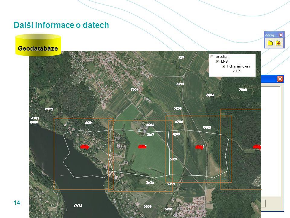 Další informace o datech 8.3.201214ZÁPATÍ PREZENTACE Geodatabáze