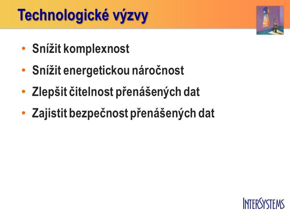 • Snížit komplexnost • Snížit energetickou náročnost • Zlepšit čitelnost přenášených dat • Zajistit bezpečnost přenášených dat Technologické výzvy