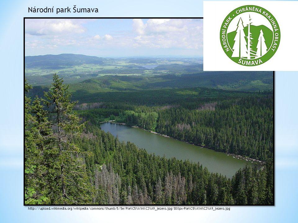 Národní park Šumava http://upload.wikimedia.org/wikipedia/commons/thumb/5/5e/Ple%C5%A1n%C3%A9_jezero.jpg/800px-Ple%C5%A1n%C3%A9_jezero.jpg