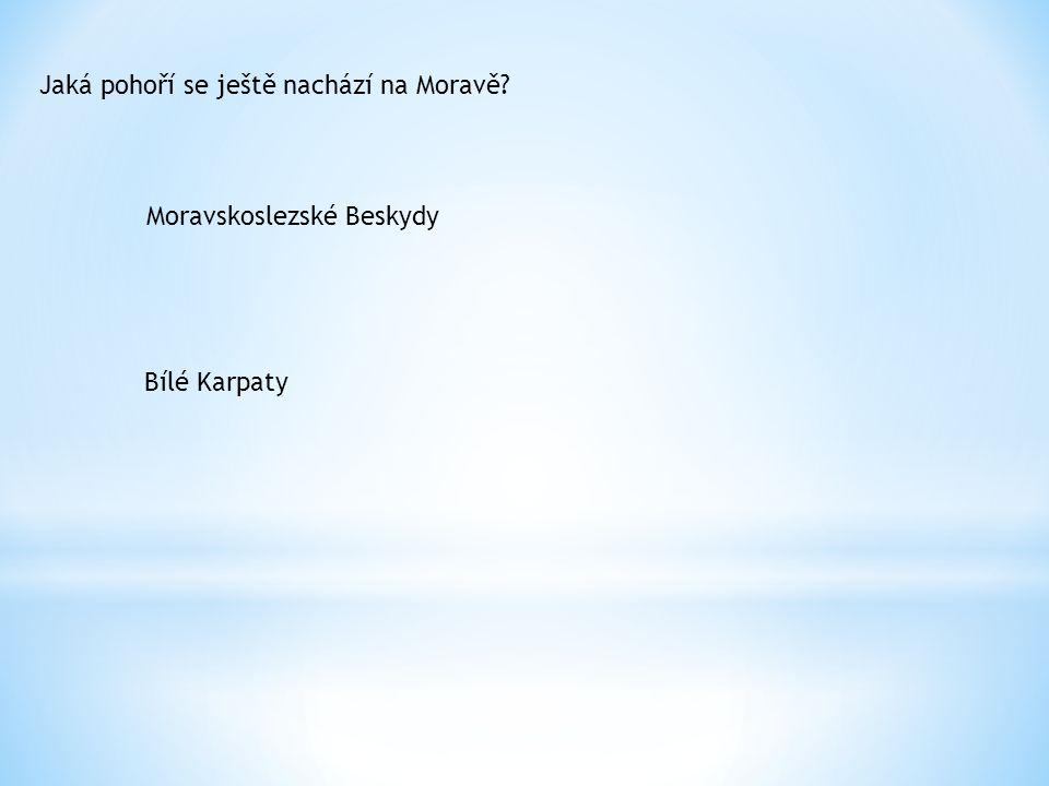 Jaká pohoří se ještě nachází na Moravě? Moravskoslezské Beskydy Bílé Karpaty