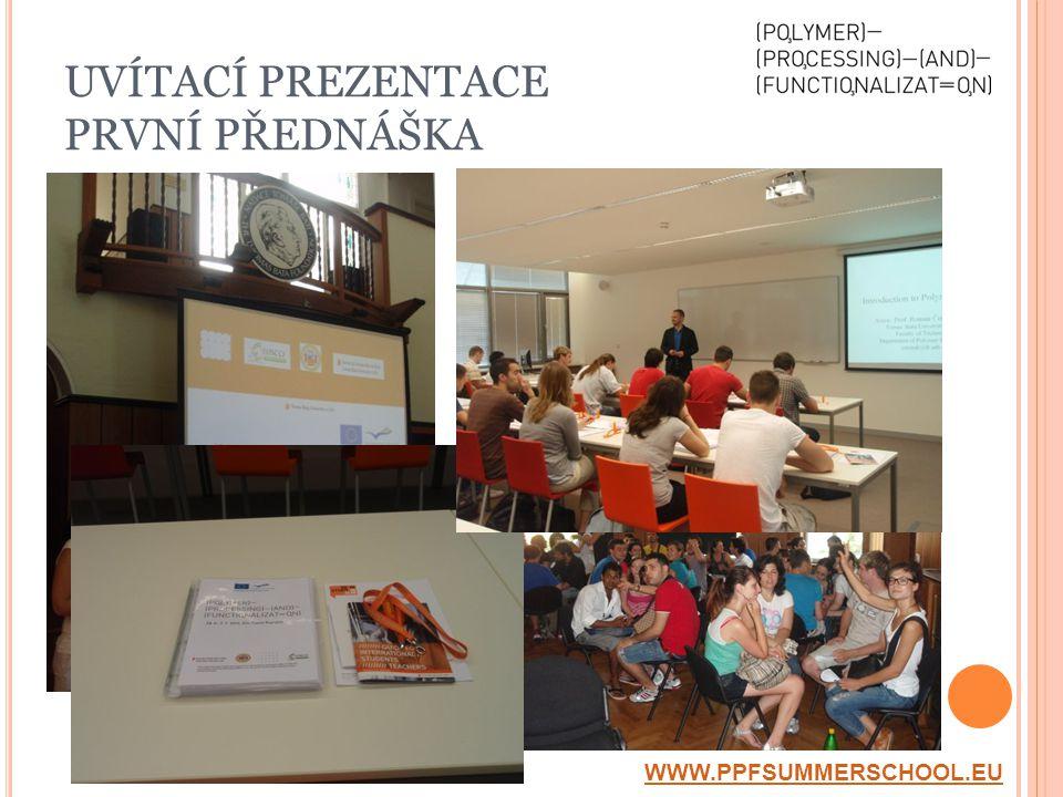UVÍTACÍ PREZENTACE PRVNÍ PŘEDNÁŠKA WWW.PPFSUMMERSCHOOL.EU
