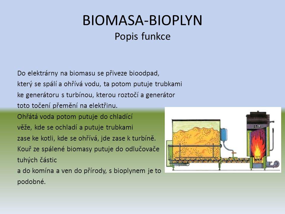 BIOMASA-BIOPLYN Co to biomasa • Biomasa je velmi složité palivo, protože podíl těkavé hořlaviny je velmi vysoký (u dřeva je 70 %, u slámy 80 %) a vzniklé plyny mají různé spalovací teploty.