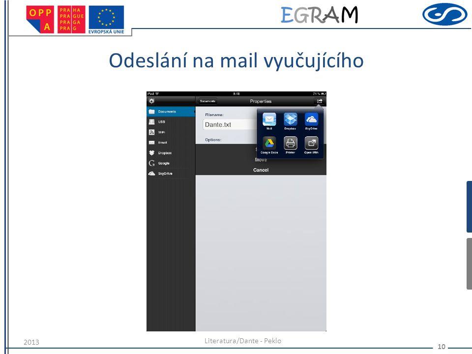 EGRAMEGRAM Odeslání na mail vyučujícího Literatura/Dante - Peklo 10 2013
