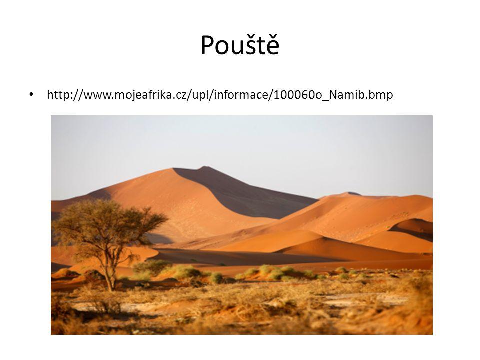 Pouště • http://www.mojeafrika.cz/upl/informace/100060o_Namib.bmp