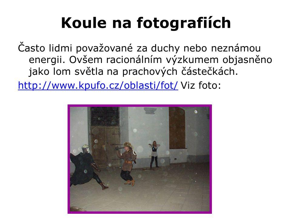 Koule na fotografiích Často lidmi považované za duchy nebo neznámou energii.