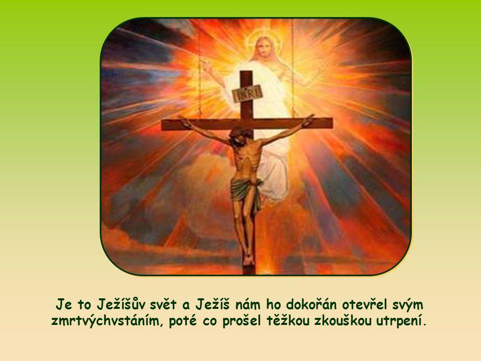Je to Ježíšův svět a Ježíš nám ho dokořán otevřel svým zmrtvýchvstáním, poté co prošel těžkou zkouškou utrpení.