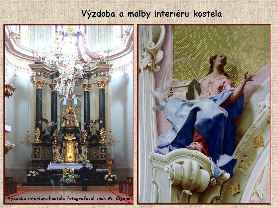 Barokní kostel Panny Marie Bolestné byl postavený v letech 1751-1754.
