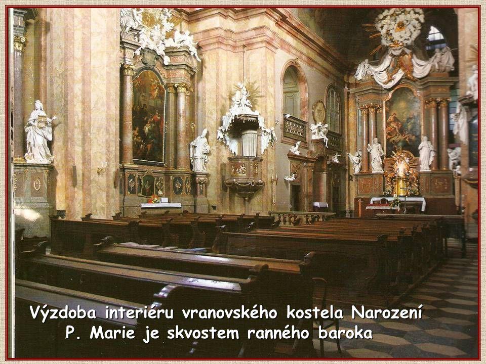 Výzdoba interiéru vranovského kostela Narození P. Marie je skvostem ranného baroka