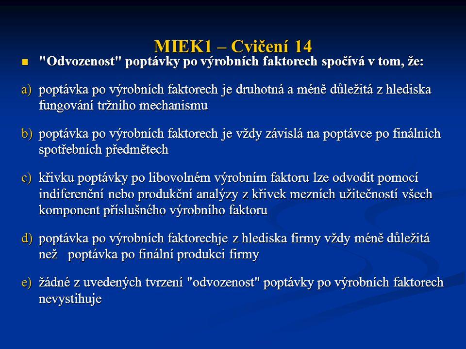MIEK1 – Cvičení 14 