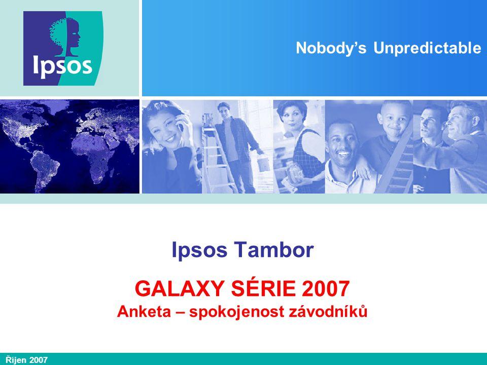 Říjen 2007 Nobody's Unpredictable Ipsos Tambor GALAXY SÉRIE 2007 Anketa – spokojenost závodníků