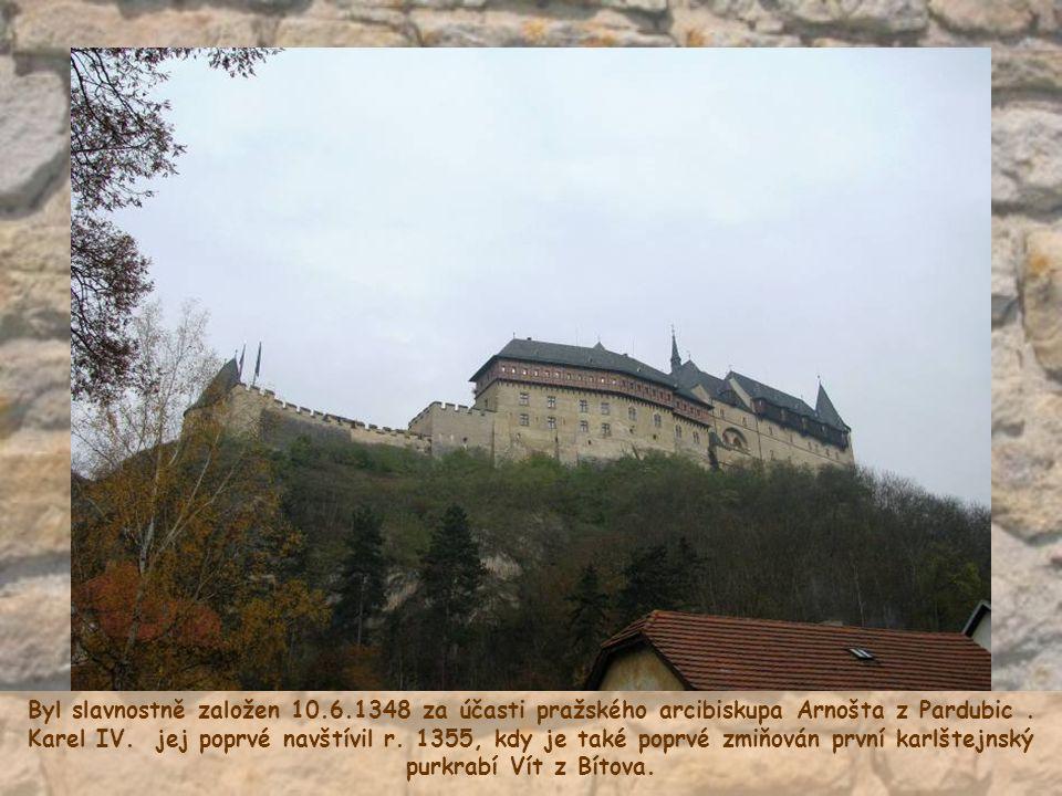 Byl slavnostně založen 10.6.1348 za účasti pražského arcibiskupa Arnošta z Pardubic.