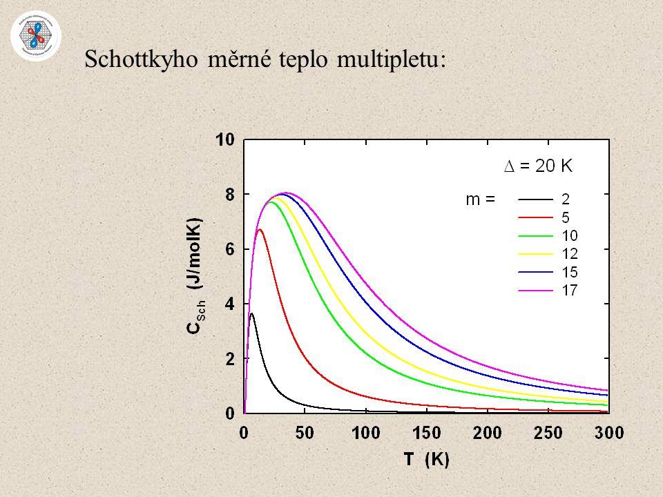 Schottkyho měrné teplo multipletu: