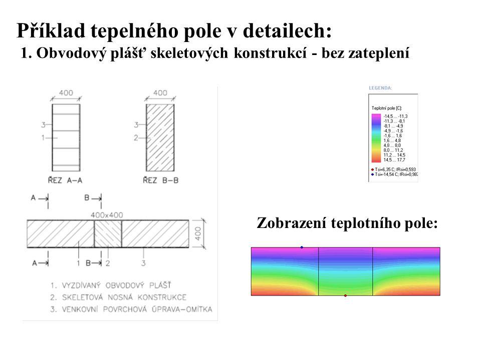 SEZNAM PŘÍLOH Příklad tepelného pole v detailech: 1.